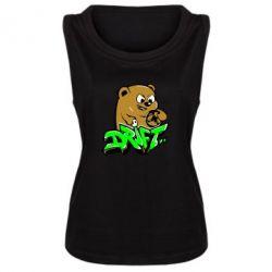 Женская майка Drift Bear - FatLine