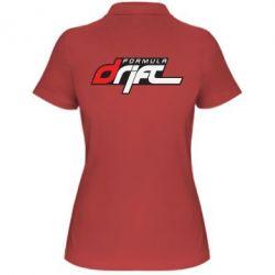 Женская футболка поло Drift Formula - FatLine