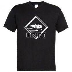 Мужская футболка  с V-образным вырезом Drift - FatLine