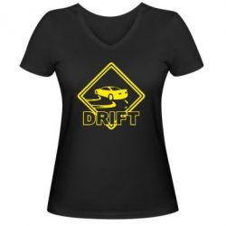 Женская футболка с V-образным вырезом Drift - FatLine