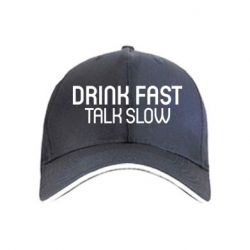 Купить Кепка Drink fast, talk slow, FatLine