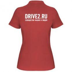 Женская футболка поло Drive2.ru - FatLine