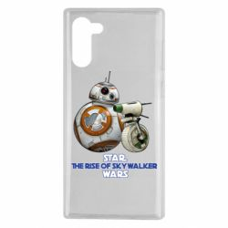 Чехол для Samsung Note 10 Droids BB 8 and  D O  star wars the rise of skywalker