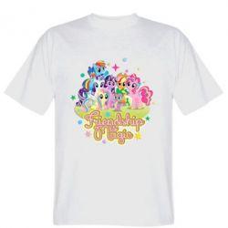 Мужская футболка Дружба це чудо - FatLine