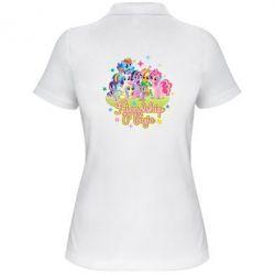 Жіноча футболка поло Дружба це чудо - FatLine