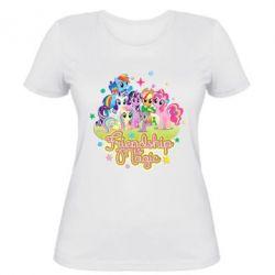 Женская футболка Дружба-это чудо