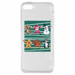 Чехол для iPhone5/5S/SE Dub and New Year characters