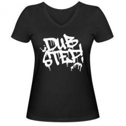Женская футболка с V-образным вырезом Dub Step Граффити - FatLine