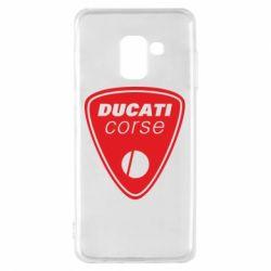 Чехол для Samsung A8 2018 Ducati Corse