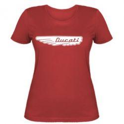 Женская футболка Ducati Motors - FatLine