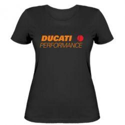 Женская футболка Ducati Perfomance - FatLine