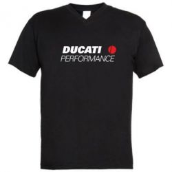 Мужская футболка  с V-образным вырезом Ducati Perfomance - FatLine