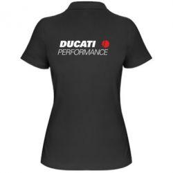 Женская футболка поло Ducati Perfomance - FatLine