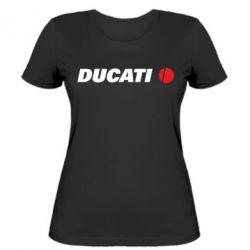 Женская футболка Ducati - FatLine