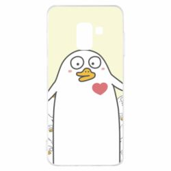 Чехол для Samsung A8 2018 Ducklings - FatLine