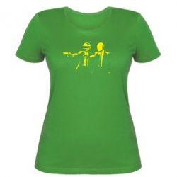 Женская футболка Daft Punk group - FatLine