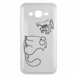 Чохол для Samsung J5 2015 Два кота
