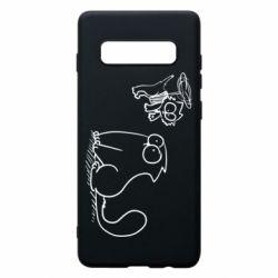 Чохол для Samsung S10+ Два кота