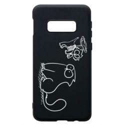 Чохол для Samsung S10e Два кота