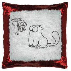 Подушка-хамелеон Два кота