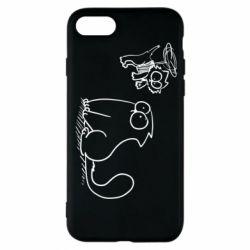Чохол для iPhone 7 Два кота