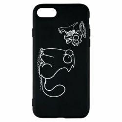 Чохол для iPhone 8 Два кота