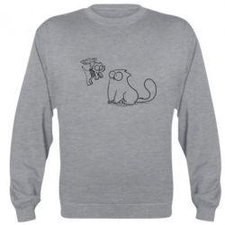 Реглан (свитшот) Два кота