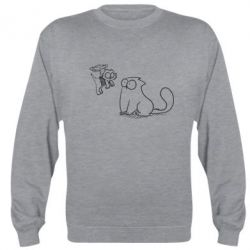 Реглан (свитшот) Два кота - FatLine
