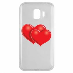 Чехол для Samsung J2 2018 Два сердца