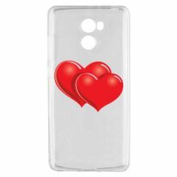 Чехол для Xiaomi Redmi 4 Два сердца