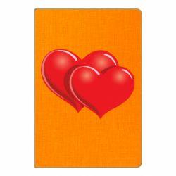 Блокнот А5 Два сердца
