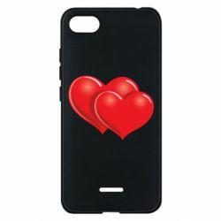 Чехол для Xiaomi Redmi 6A Два сердца