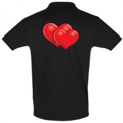 Футболка Поло Два сердца - FatLine