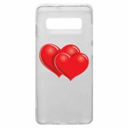 Чехол для Samsung S10+ Два сердца