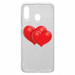 Чехол для Samsung A30 Два сердца