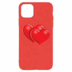 Чехол для iPhone 11 Два сердца