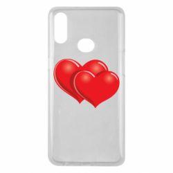 Чехол для Samsung A10s Два сердца