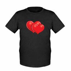 Детская футболка Два сердца - FatLine