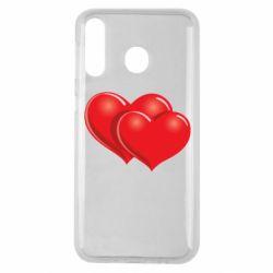 Чехол для Samsung M30 Два сердца