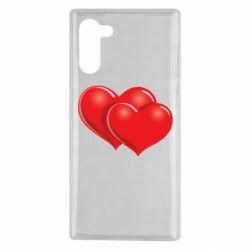 Чехол для Samsung Note 10 Два сердца