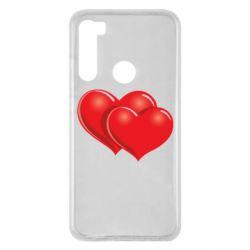 Чехол для Xiaomi Redmi Note 8 Два сердца