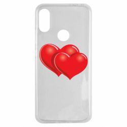 Чехол для Xiaomi Redmi Note 7 Два сердца