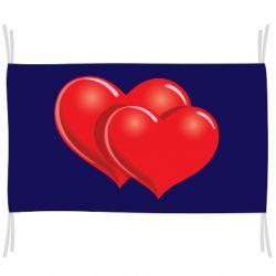 Флаг Два сердца