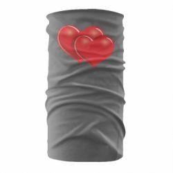 Бандана-труба Два сердца