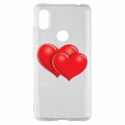 Чехол для Xiaomi Redmi S2 Два сердца