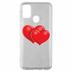 Чехол для Samsung M30s Два сердца
