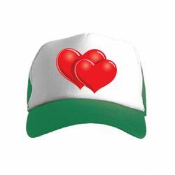 Детская кепка-тракер Два сердца