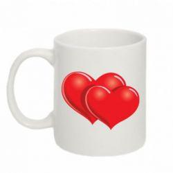 Кружка 320ml Два сердца - FatLine