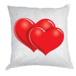 Подушка Два сердца - FatLine