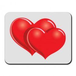 Коврик для мыши Два сердца - FatLine